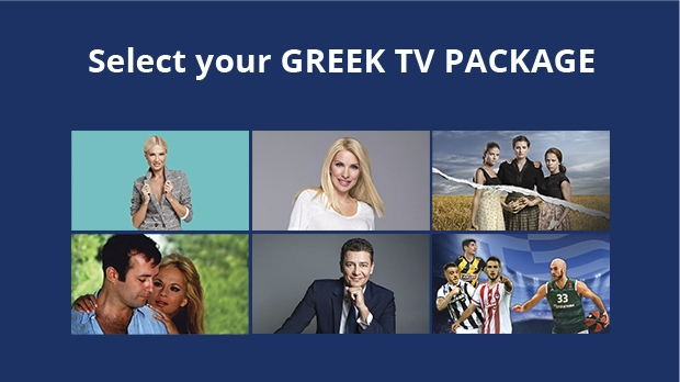 Select your GREEK TV PACKAGE